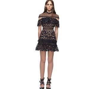 Dresses & Skirts - Black Stars Boutique Dress Capelet Top Mini